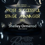 Most Successful Stage Manager - Shelley Ormerod   Side Show